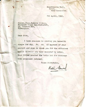 Thos Padmore Letter 1941