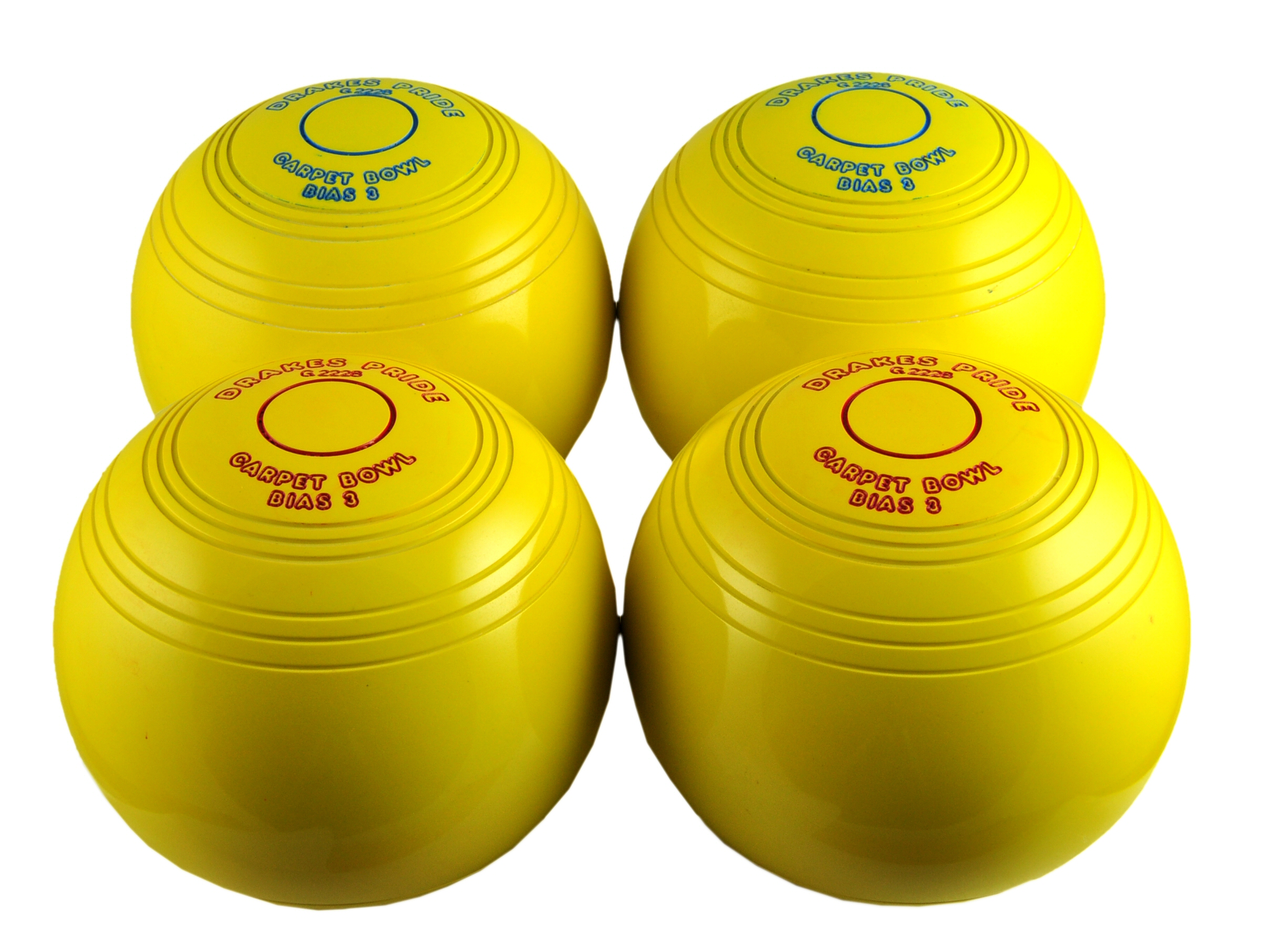 Yellow Bias carpet Bowls