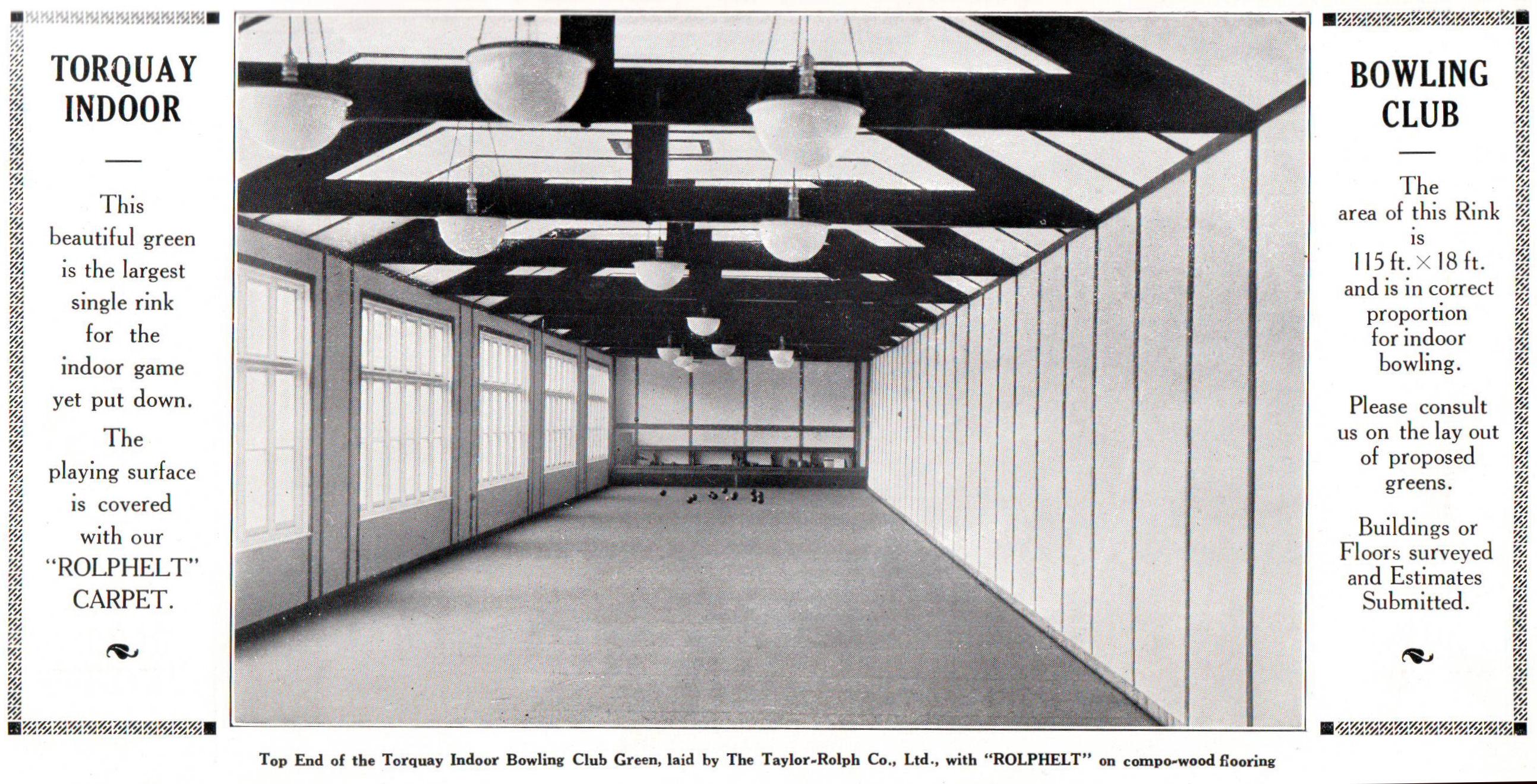 The Sport Of Bowls Indoor Rink Width