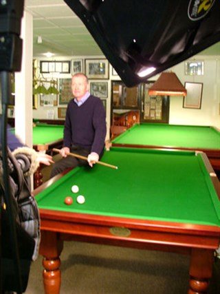 Steve Davis in Thurston Table showroom
