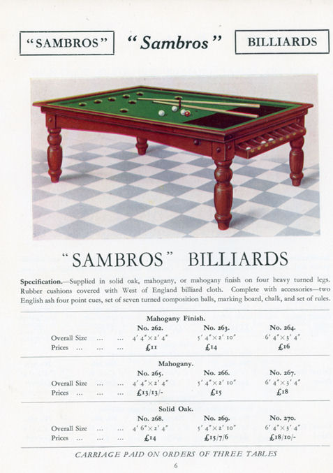 Sambros 1935 catalogue page 6