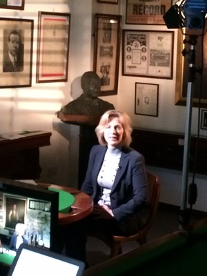 Hazel Irvine BBC TV at Thurston