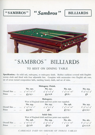 SAMs Bros catalogue 1935