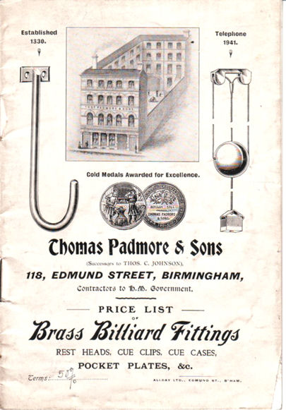 Brass Billiard Fittings