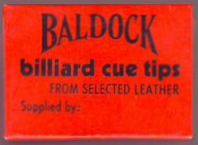 Baldock Billiard Cue Tips box