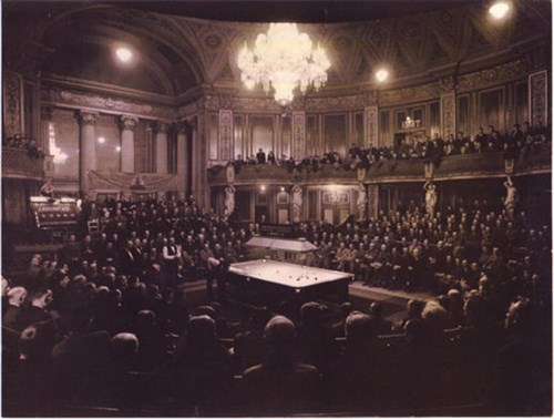 St. Georges Hall, Liverpool, Snooker match
