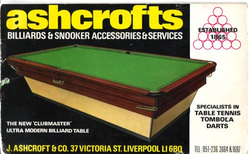 Ashcroft Snooker table