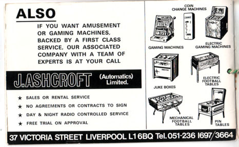 Ashcroft amusement machines
