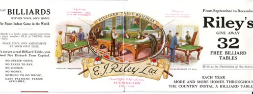 E.J. Riley Billiard advert