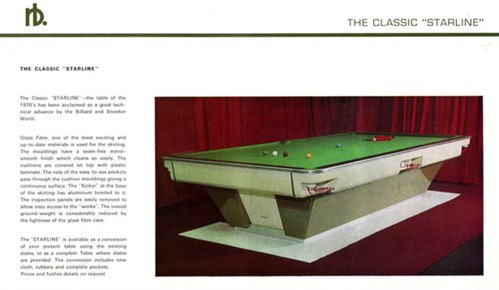 Riley Burwat starline Snooker table