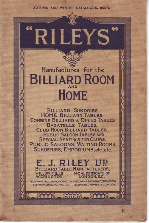 E J Riley Billiard Tables