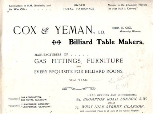 Cox & Yeman Catalogue