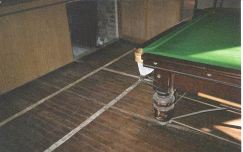 Snooker Table of rails