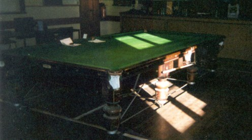 Snooker Table ready for play